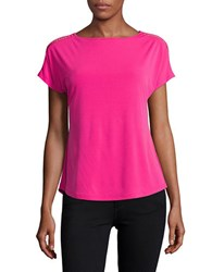 Michael Kors Petite Chain Accented Dolman Tee Electric Pink