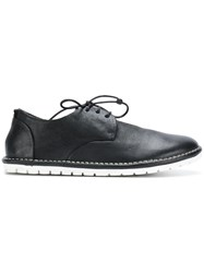 Marsell Contrast Sole Lace Up Shoes Leather Rubber Black