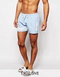 Ellesse Retro Swim Shorts Exlclusive To Asos Blue