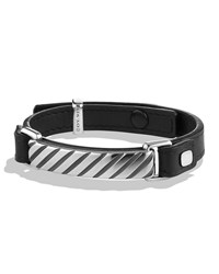 Modern Cable Id Bracelet In Black David Yurman