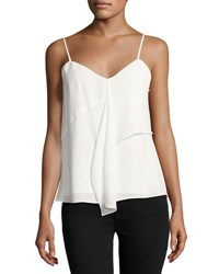 1.State Ruffled Spaghetti Strap Camisole Top Ivory