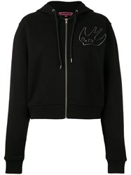 Mcq By Alexander Mcqueen Swallow Embroidered Hoodie Women Cotton S Black