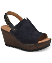 B.O.C. Noelle Wedge Sandals Women's Shoes Black