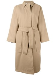 Opening Ceremony Single Breasted Coat Nude Neutrals