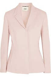 Fendi Stretch Wool Blazer Pink