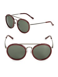 3.1 Phillip Lim Pantos Round Sunglasses Red