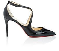 Christian Louboutin Women's Crissos Leather D'orsay Pumps Dark Grey