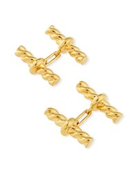 Tom Ford Twisted Cable Cuff Links Golden