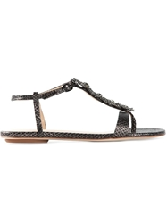 Lola Cruz Embellished Flower Sandals