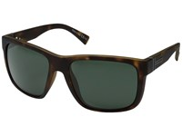 Von Zipper Maxis Tortoise Satin Vintage Grey Sport Sunglasses Green