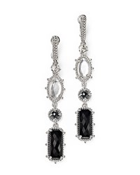 Judith Ripka Harmony Hematite Mother Of Pearl Doublet And Onyx Drop Earrings White Black