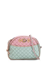 Gucci Small Two Tone Quilted Leather Bag Pink Blue