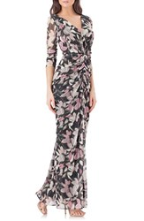 Js Collections Women's Print Jersey Gown