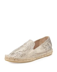 Delman Percy Metallic Flat Espadrille Putty Pink