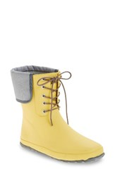 Dav Women's Lace Up Mid Weatherproof Boot Yellow