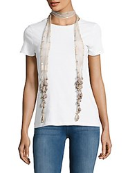 Chan Luu Sequin Embellished Tie Dyed Scarf Grisaille