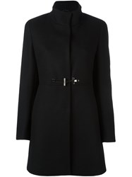 Fay Toggle Detail Coat Black