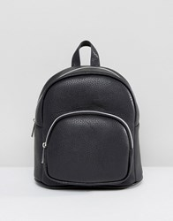 Asos Mini Backpack With Front Pocket Black