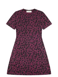 Etre Cecile Petite Cheetah A Line Mini Dress Purple