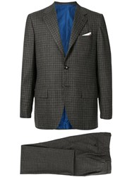 Kiton Two Piece Checks Formal Suit 60