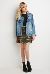 Forever 21 Camo Cargo Skirt Green Multi