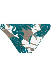 Mikoh Zuma Printed Bikini Briefs Army Green