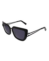 Kendall Kylie Bianca Split Temple Cat Eye Sunglasses Black