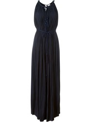Lanvin Draped Dress Blue
