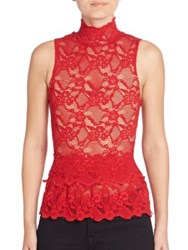 Nightcap Clothing Peplum Cutout Sleeveless Top Scarlett