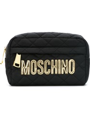 Moschino Quilted Makeup Bag Black