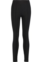Valentino Knitted Cashmere And Silk Blend Leggings Black