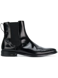 Ami Alexandre Mattiussi Chelsea Boots With Thick Leather Sole Black