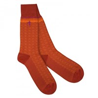 London Sock Company Bloomsbury Orange