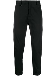 Low Brand Regular Straight Leg Trousers Black
