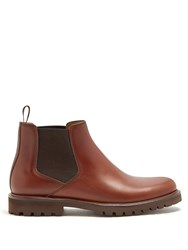 A.P.C. Scott Leather Chelsea Boots Brown