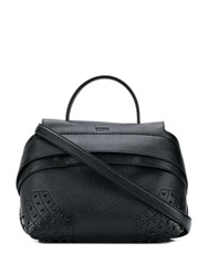 Tod's Small Wave Tote Bag Black