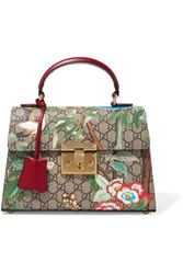 Gucci Padlock Small Coated Canvas And Leather Tote Green