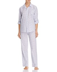 Ralph Lauren Striped His Shirt Pajama Set Blue Stripe