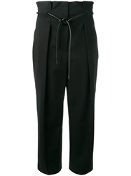3.1 Phillip Lim Origami Pleat Trousers Black