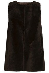 Karl Donoghue Reversible Paneled Shearling Gilet Black