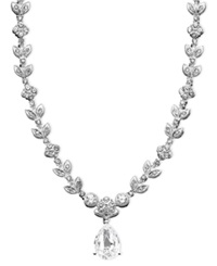 Eliot Danori Necklace Cubic Zirconia Leaf 1 Ct. T.W.
