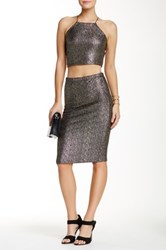 Lily White Glitter Skirt Metallic