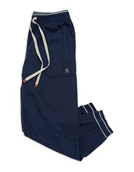 Original Penguin Striped Cuff Sweatpants Navy