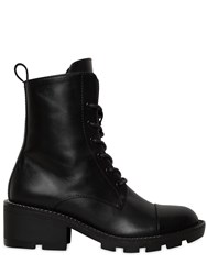 Kendall Kylie 30Mm Park Chained Leather Combat Boots