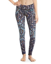 Karen Kane Active Abstract Print Leggings Tapestry