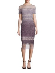 Pamella Roland Sequin Cocktail Dress Multi