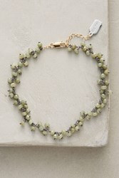 Anthropologie Stone Droplet Ankle Bracelet Green
