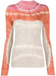 Missoni Fitted Tie Dye Pullover Neutrals