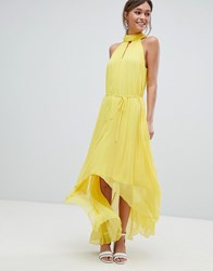 Ted Baker Pleated Collar Maxi Dress Yellow