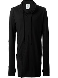 Lost And Found Rooms Long Line Hooded Tunic Black